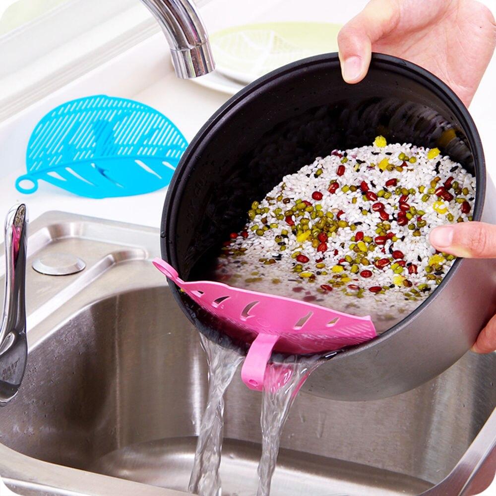 ∞1 unid durable limpio hoja forma arroz lavado tamiz frijoles ...