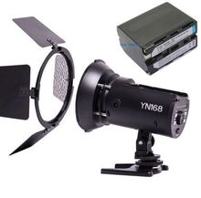 Free Shipping!YONGNUO YN168 Flash Light LED Video Light for Camcorder Camera Shooting With F970 Battery