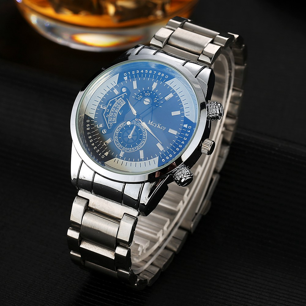 Mcykcy Brand Stainless Steel Outdoor Quartz Wristwatch Leather Men Watches New Sports Watch for Men Luxury Famous Casual Clock mcykcy new famous brand casual quartz watch men gold stainless steel fashion dress watches relogio masculino unisex clock hot