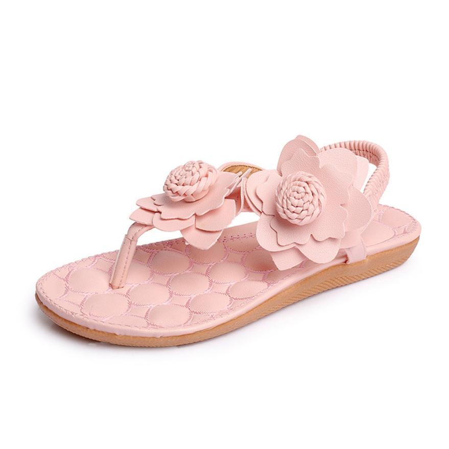 0c0ac117 Zapatos Youyedian De Flor Cuñas Blume Verano Mujeres Barato Plana Mujer  Sandalias 2018 Rosado rqqxfEn