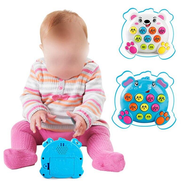Music Toys Plastic Hammer Game Family knock on Animal Head Noise Maker Educational Toys Children Hamster Games