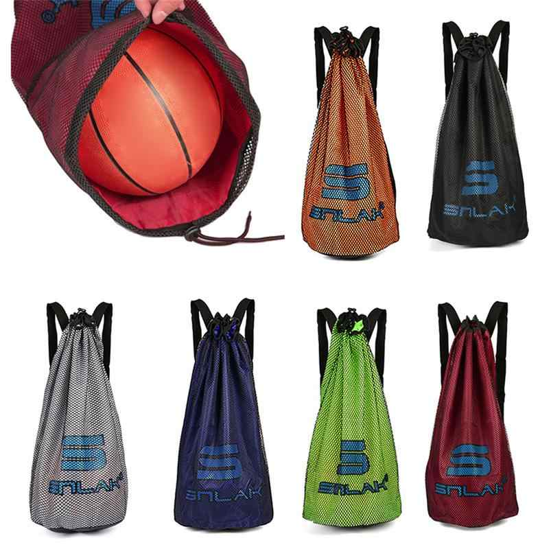 06e0e740242 Outdoor Sport Basketball Bags For Balls Soccer Drawstring Mash Pack Fitness  Bucket Bag Large Capacity Backpack