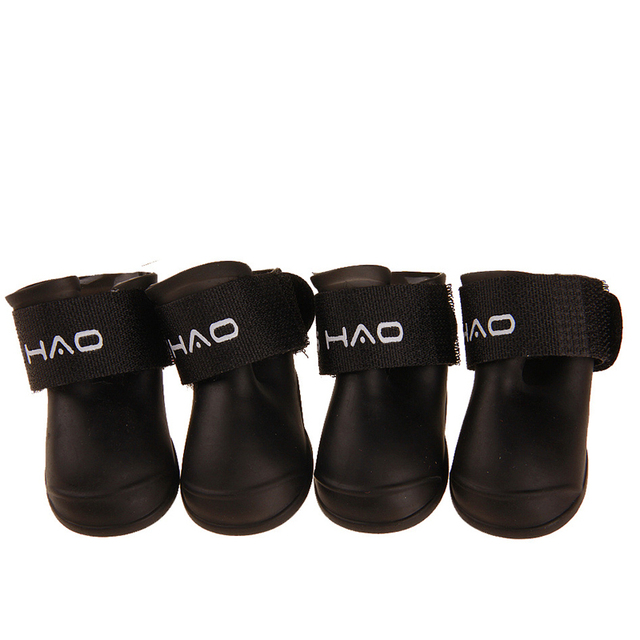 Hot 4pcs/set Dog Shoes Waterproof Rain Shoes Small Dogs Cats Breed Pet Cat Dog Socks Rubber Silicone Boots For Dogs Winter Socks 3