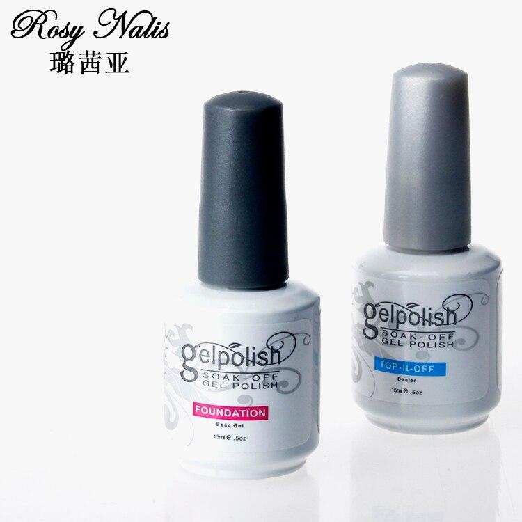 1pcs 15ml Top + Base Coat Nail Gel Polish Nail Art Finish