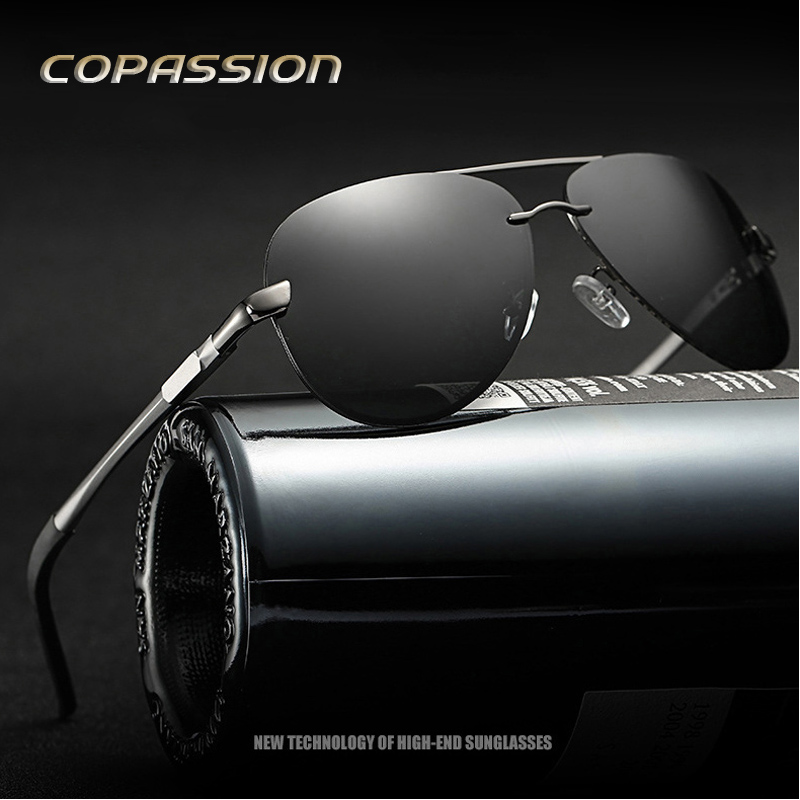 Aluminum Magnesium metal sunglasses men polarized fishing glasses Driver photochromic sun glasses uv400 oculos de sol masculino