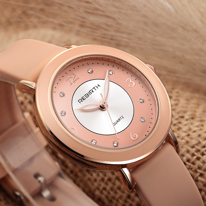 Fashion Diamond Women Watch Quartz Silicone Strap Casual Dress Ladies Bracelet Romantic Digital Dial Reloj Mujer New Trend Clock