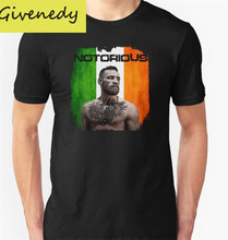 New Arrive 2016 Summer The Notorious Conor McGregor O-Neck T shirt Tees Men T Shirt Funny Casual Tee Shirt Tops