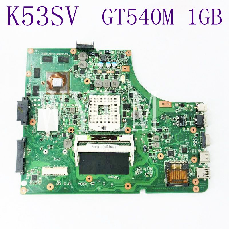 цена на K53SV Motherboard GT540M 1GB N12P-GS-A1 USB 2.0 For Asus A53S X53S P53S K53S K53SV Laptop Mainboard 100% Tested Working Well
