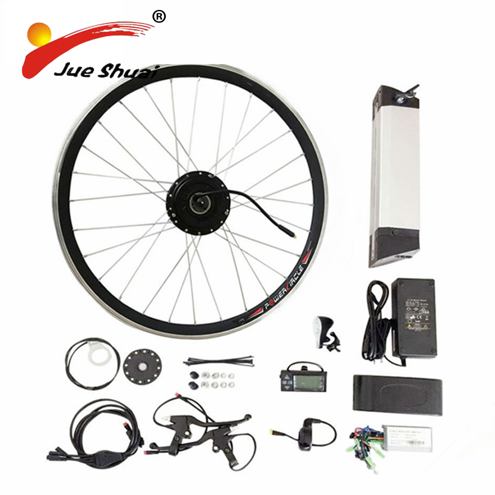 20 24 26 700C(28) Electric Bicycle Kit 36V10AH/12AH Kettle Battery Ebike Kit With 250W 350W 500W Front Wheel Motor bicicleta js electric bike bicycle conversion kit36v 350w 250w 500w for 20 24 26 700c 28 29 front wheel bottle battery hub motor lcd