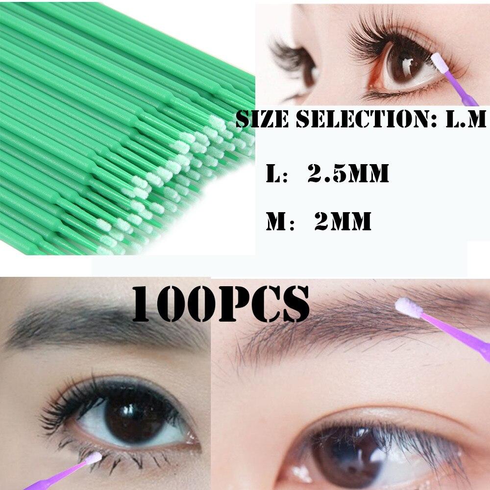 New 100Pcs Disposable Materials Tooth Applicators Lip Eyelash Brush Eyelash Plaster 2018