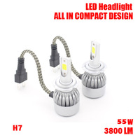 Dongzhen 1 Pair 55W 3800lm H7 headlight LED Car lamps Kit led Auto Front Light Fog Bulb Automotive Headlamp for BMW Ford VW Kia