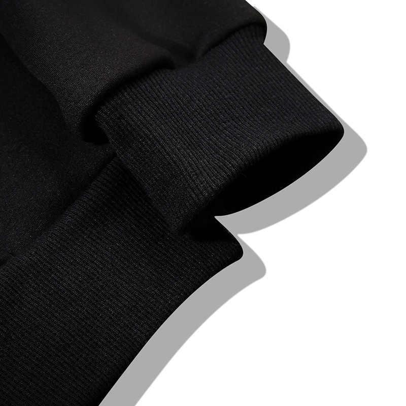 봄 남성 후드 티 스웨터 긴 소매 탑스 솔리드 캐주얼 풀오버 남성 운동복 브랜드 코트 가을 아우터 힙합 C39