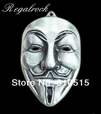 Regalrock V for Vendetta Guy Fawkes Mask Face Pendant NecklaceRegalrock V for Vendetta Guy Fawkes Mask Face Pendant Necklace