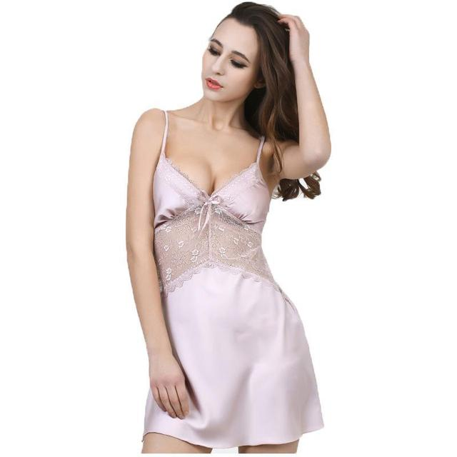 new arrival spring & summer style nightgown sleepwear home suits drop shipping beautiful silk pijamas & lounge clot