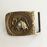 Retail New Style High Quality 72 50mm Solid Brass Turtle Men S Belt Buckles For 4cm