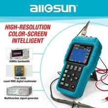 Все-солнце Ручной осциллограф 3 в 1 Универсальный осциллограф 50 мГц цветной экран Scopemeter одноканальный Лидер продаж EM115A