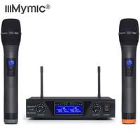 IU 602 UHF Dual Channel 2 Metal Handheld Mic Transmitter Professional Long Range Wireless Microphone System for Karaoke Speech