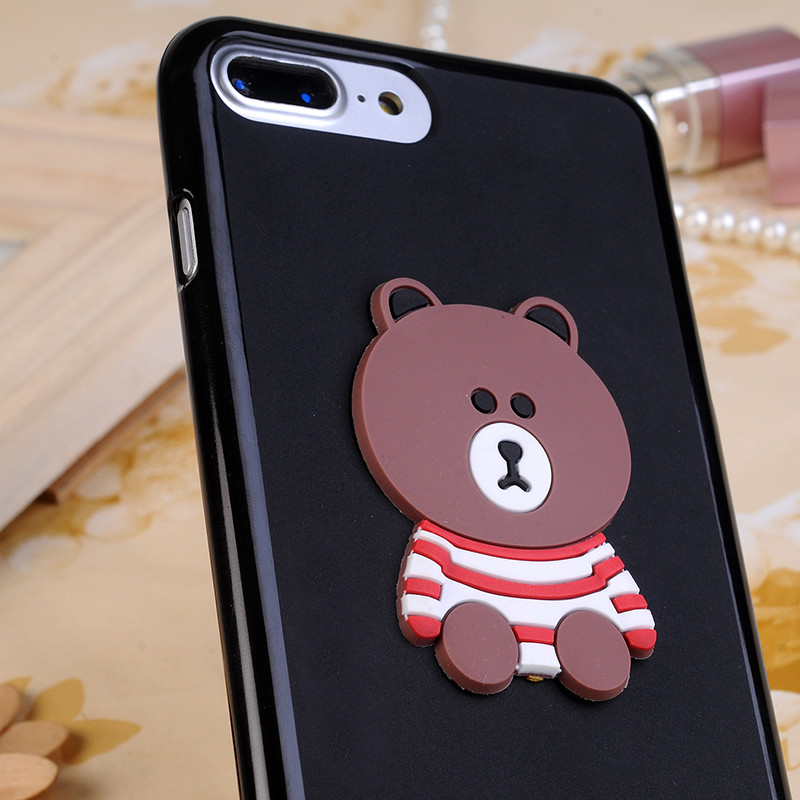 3D Rabbit Teddy Bear Soft Silicone Case For LG X Cam K580 Xcam 5.2 Cover Cartoon Minnie Mouse Funda