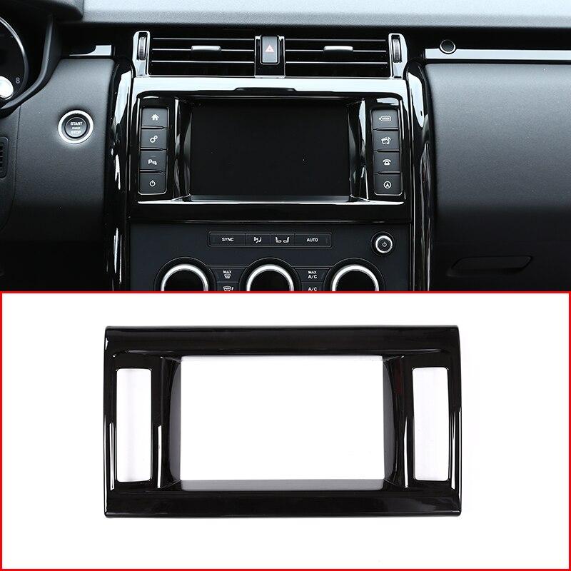 Piano Black ABS Chrome Interior GPS Navigation Frame Cover Trim For Land Rover Discovery 5 LR5 L462 2017-2018 Car Accessories