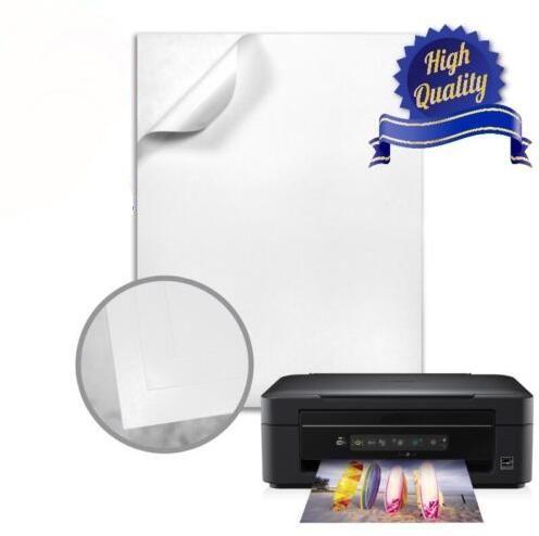 SIze A4 White Glossy Self Adhesive Sticker Label Sheet Sticky Photo Paper For Inkjet Printer 2/10/30/50pcs