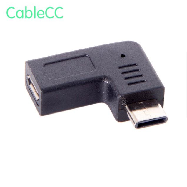 USB-C Type-C Male To Micro USB 2.0 5Pin Female Data Adapter 90 Degree Angled Type