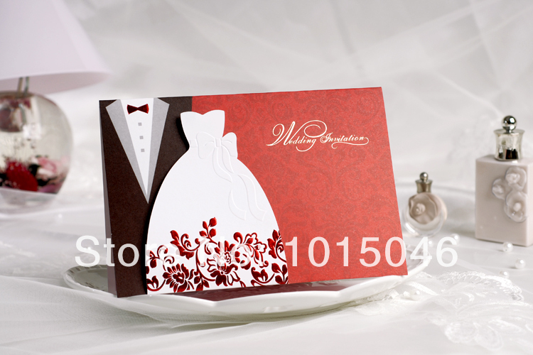 Free Shipping 20X Creative Wedding Invitation Card Customized With Envelope  Ideas Blank Inside Wedding Gift(