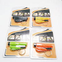 Seatbelt Cutter And Window Glass Breaker 3 In 1 Quick Reliable Car Escape KeyChain Tool Car