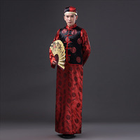 Chinese Groom Wedding Dress Hanfu Traditional Clothing For Men Ancient Costume Service Show Host Tradition Clothes Free shipping