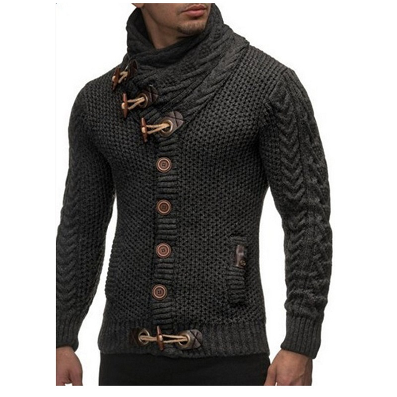Autumn Winter Fashion Casual Cardigan Sweater Coat Men Loose Fit 100 %Terylene Warm Knitting Clothes Sweater Coats Men 3XL