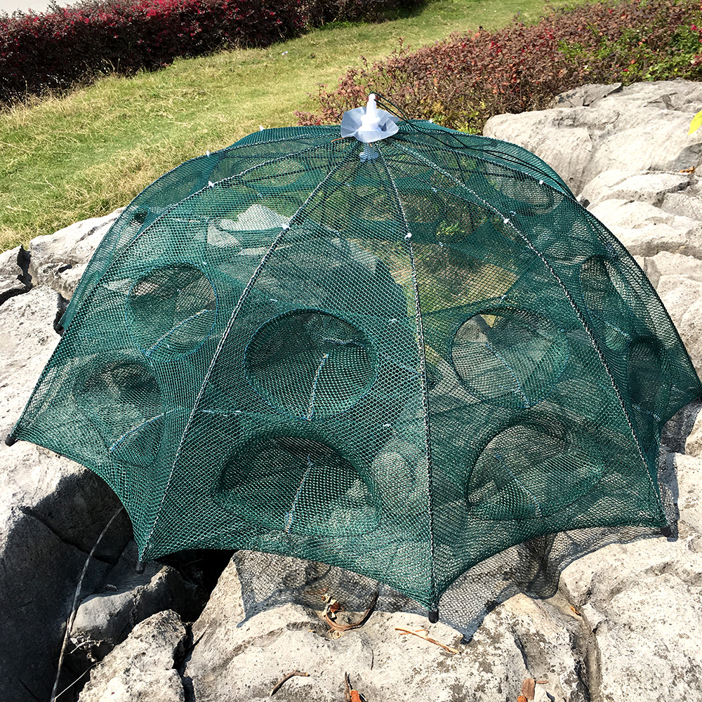 Foldable 4-20 Holes Fishing Network Crab Shrimp Ultralight Fishing Landing Net Network Fishing Mesh Fish Trap rede ...