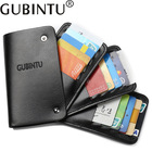 GUBINTU Leather Card Holder Wallets With 30 Card Slots Rfid Wallet Card Rotate Men Credit Card Holders
