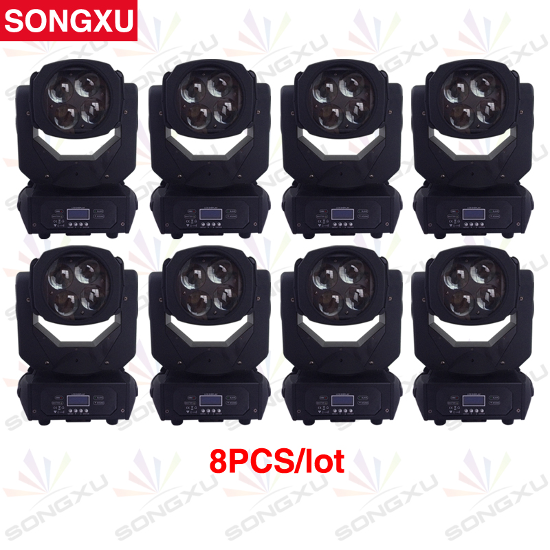SONGXU 8pcs lot Wholesale 4x25W Beam Moving Head Light Colorful Super Beam Light for Disco Nightclub
