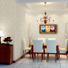 Simple popular modern 3d texture non-woven Plain colour Ephedra wallpaper bedroom high-end home decoration