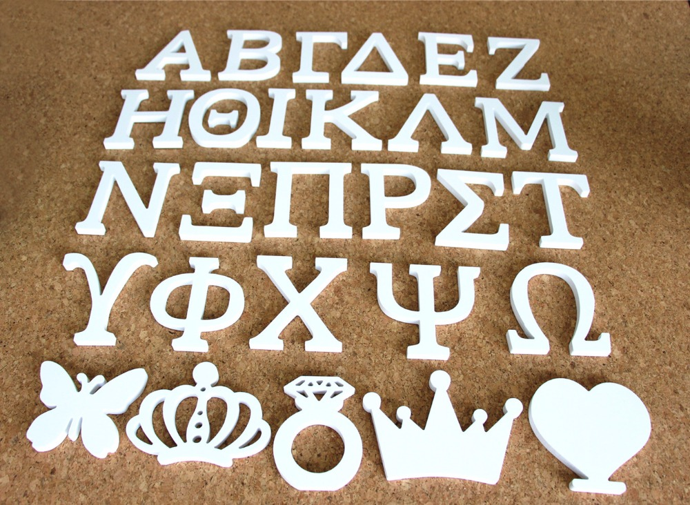Buy Wooden Greek Letters Aliexpresscom Buy Home Decor Decoration Height 12cm