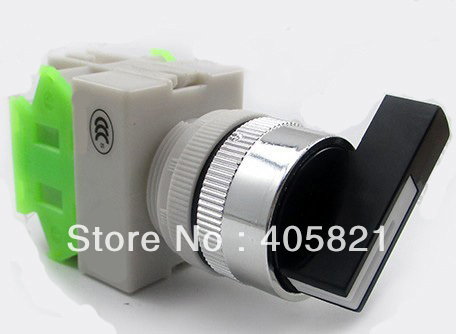 1N/O+1N/C long Handle Knob 2 Position Momentary Select Selector Switch LAY37(Y090)-11XB/23 Spring Return Mouting Hole 22mm