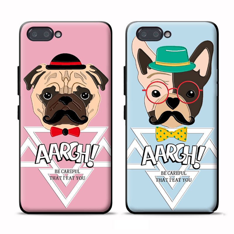 Luxury Cute Cartoon Animal Dogs Bulldog Case For Huawei Nova / Nova 2 Coque Soft TPU Silicone Cover For Huawei Nova 2i 2 i Case
