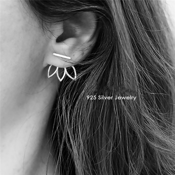 Pure 925 Silver Stud Earring For Women OL Style Office Lotus Simple Design Personality Ear Studs.jpg 350x350 - Pure 925 Silver Stud Earring For Women OL Style Office Lotus Simple Design Personality Ear Studs Fine Jewelry Aretes