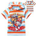 Мальчики футболки лето мода 2016 новый мультфильм с коротким рукавом мальчик футболка высокое качество полоса мальчик малыш футболка для детской одежды