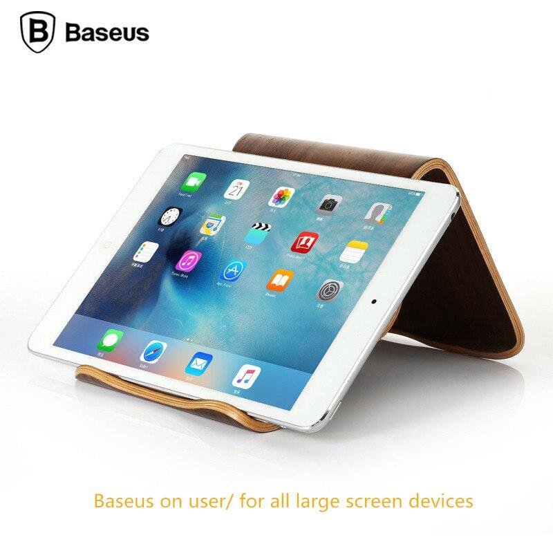 imágenes para Baseus tablet pc sostenedor del soporte de escritorio de madera de nogal natural llanura con soporte de montaje alta calidad pro para ipad air 5 6 mini 2 3 4 Pad