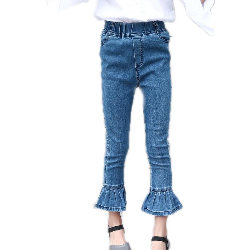 All match Children Girls Denim Jeans 2018 Spring Autumn