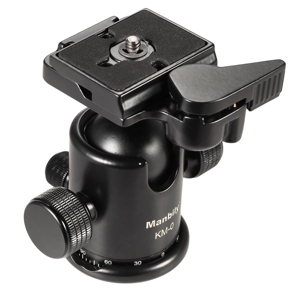 Manbily Professional Camera Ball Head Ballhead Tripod Head Panoramic Head Sliding Rail Head w Manfrotto 200PL-14 Clamp&Plate KM0