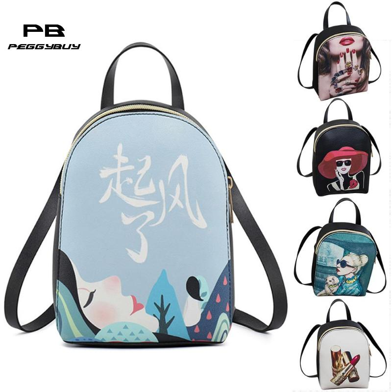 Fashion Shell Preppy Mini Backpack Women Floral Print Casual Schoolbag Bolsa Feminina Schoolbags Backpack Mochilas Mujer 2018