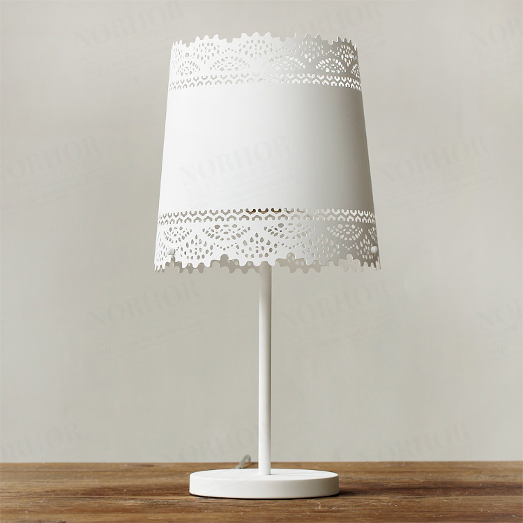 Charming Online Shop Nordic IKEA Bedroom Bedside Lamp Markor American Country  Pastoral Metal Lace Table Lamp Table Lamp | Aliexpress Mobile