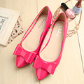 Hot Sale Fashion bow pointed toe ballet flat shoes women flats shoes woman big size 33-43 Flat With Shoes For Women Woman