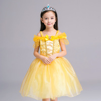 Cinderella Dress Kids Fair BELLA Girls Christmas Costumes Dresses Beauty Beast Cosplay Clothing Child Princess Belle