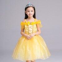 Cinderella Dress Kids Fair BELLA Girls Christmas Costumes Dresses Beauty Beast Cosplay Clothing Child Princess Belle
