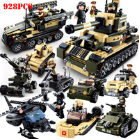 8 in 1 Military Tank Vehicle Specia Force Building Blocks Compatible Legoingly Weapons Soldiers Technic Bricks Toys For Children