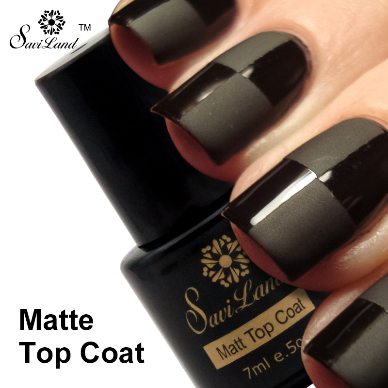 Saviland 1pcs Finish Cover UV Gel Nail Polish Matt Top Coat UV LED ...
