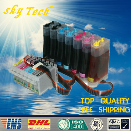 Full Ink CISS suit for T0341 - T0347 T0348 , CISS suit for Epson stylus photo 2100 2200  ,with ARC chip , With quality ink ciss suit for epson stylus photo r1900 suit for t0870 t0871 t0879 series fulll dye ink ciss with arc chips