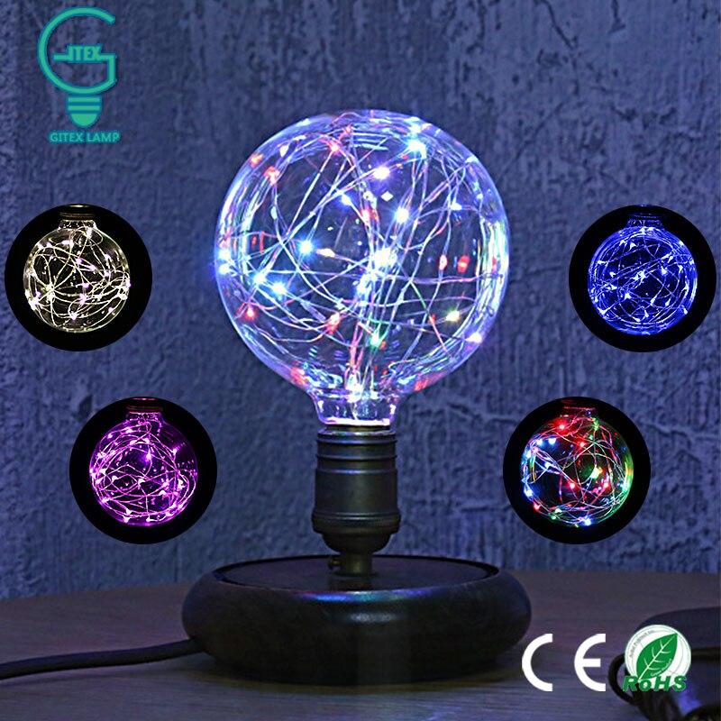 E27 Vintage Design Fee Led-lampe 110 V/220 V G95 RGB String Licht Filament Led-lampe Für Dekor weihnachten Urlaub Hochzeit beleuchtung